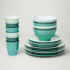 Barel Classic Harmony 24 Piece Melamine Dinner Set - Tumblers, Plates, And Bowls