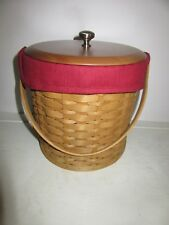 Fall Fabric Custom LINER for Longaberger Ice Bucket Free Ship MINT
