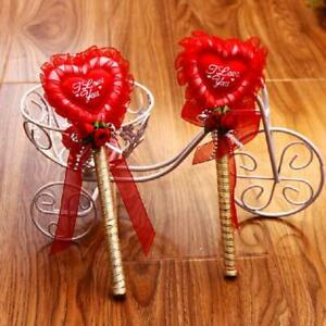 Flower Love Shape Party Wedding Sign Pen Guest Book Creative Gifts Decor 2pcs