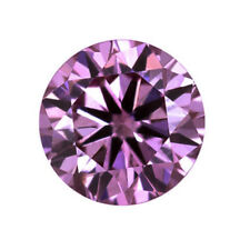 Nice  1.02 ct 6.60 mm VVS2 Fancy Pink Round Excellent Cut Loose Moissanite 01