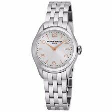 Baume Mercier Women's Clifton Silver Dial Stainless Steel Quartz Watch A10175
