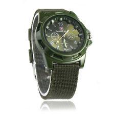Round Dial Nylon Strap Band Men Boy Military Army Alloy Quartz Wrist Watch Gifts