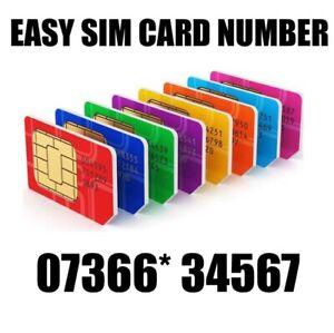 GOLD EASY VIP MEMORABLE MOBILE PHONE NUMBER DIAMOND PLATINUM SIMCARD 34567