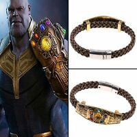 Thanos Infinity Gauntlet Power Stone Chain Avengers Bracelet Cosplay Jewelry New