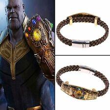 Thanos Infinity Gauntlet Power Stone Chain Avengers Bracelet Cosplay Jewelry New