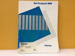 Tektronix 1988 Tek Products Catalog