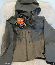 Simms G3 Guide Tactical Rain Jacket Dark Olive Men's Large Fly Fishing Gore-Tex