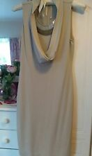 Beautiful classical I Blues nude fitted cowl neck dress uk10 cost £175 weddings