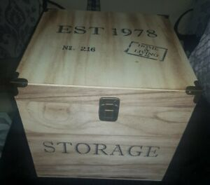 Gorgeous Storage Wooden Box with Lid-Clasp Decorative Wood SIZE  9in x 9in ,New