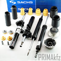 4x SACHS Stoßdämpfer + Domlager + Staubschutzsatz BMW 1er E81 E82 E88 E90 E91