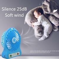 Portable Rechargeable LED Light Fan Air Cooler Mini Desk Fan Charging USB Z7Q0