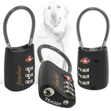 Frontier 3-Dial Combination TSA Approved Cable Travel Bag Lock (ONE)