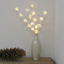 45CM INDOOR BATTERY OPERATED CHRISTMAS WEDDING ROSE FLOWER TWIG LED VASE LIGHTS