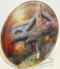 Thomas Kinkade~Simpler Times Plate~November-Autumn at Ashley's Cottage~ Bradford