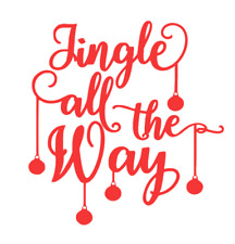 jingle all the way christmas vinyl  6x6.2 inch