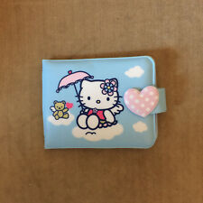 Sanrio 2005 Hello Kitty Blue Angel With Umbrella Wallet