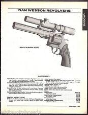 1995 DAN WESSON Hunter w/Burris Scope Revolver AD w/ specs and prices