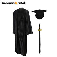 GraduationMall Shiny Bachelor Graduation Gown Cap Set 2020 Tassel High School