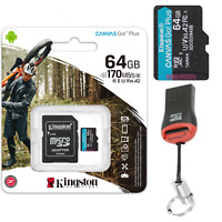 4K Speicherkarte 64GB Für Sony Vlog-Kamera ZV-1 Kingston Plus Ultra HD MicroSD