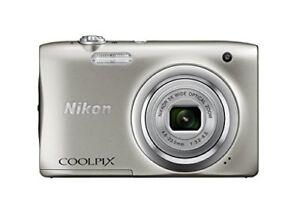 New Nikon COOLPIX A100 Silver Compact Digital Camera Japan Domestic Version