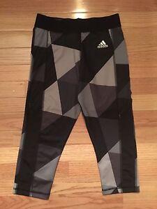 NWT Adidas Women's 3/4 GEO BLK ClimaLite/TechFit  Leggings AB3371 XS S M XL $45