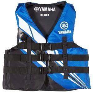 YAMAHA Men's Nylon 3-Buckle PFD Life Jacket Vest USCG Red Black Blue MAR-18V3B