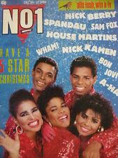 NO 1  (NUMBER ONE) MAGAZINE 20/12/86 - FIVE STAR - A-HA - WHAM!