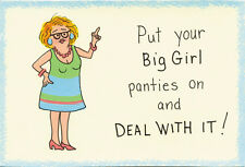 Put  Big Girl Panties On & Deal With It Funny saying message Wooden Kitchen Sign