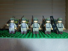 WWII 60 piece  Custom Mini Figure Set 30 US Army and 30 German Army Soldiers