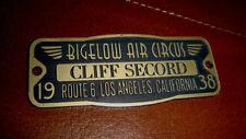 CUSTOM CLIFF SECORD BIGELOW AIR CIRCUS PROPERTY NAME TAG FOR ROCKETEER HELMET