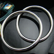 Cool 1pc 925Sterling Silver Smooth Round Circle Men Women Bracelet Bangle BY081