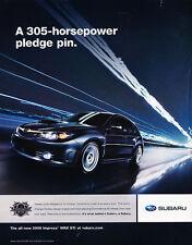 2008 2009 Subaru Impreza WRX STI 305hp -  Classic Advertisement Ad A48-B
