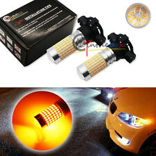 CAN-bus Amber PY24W 5200s 144-SMD LED Bulbs For Audi BMW Benz Front Signal Light