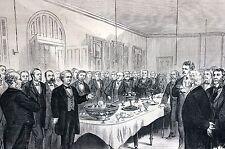Medical Physicians 1875 HOMEOPATHIC MEDICINE DOCTORS HOSPITAL ASYLUM Engraving