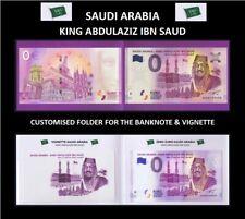 SAUDI ARABIA KING ABDULAZIZ IBN SAUD 0 ZERO EURO 2019 NOTE+VIGNETTE+FOLDER 49XX