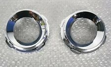 VAUXHALL ASTRA H VXR / LINE PACK 2 FOG LIGHT SURROUND CHROME RING SET NEW 04-10