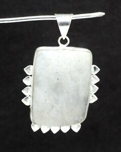 "925 Sterling Silver Rainbow Moonstone Gemstone Jewelry Pendant Size-1.80"""