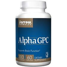JARROW FORMULAS - ALPHA GPC 300 - 60 x 300mg VEGGIE CAPS - BRAIN & MEMORY AID