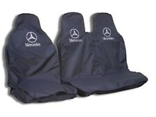 MERCEDES SPRINTER HEAVY DUTY SEAT COVERS - BLACK WATERPROOF