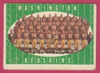 1961 Topps Football # 131 Washington Redskins Team Card -- Box 708-176
