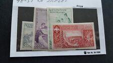 laos stamp scott 48-51 imperf set mlhog c1548