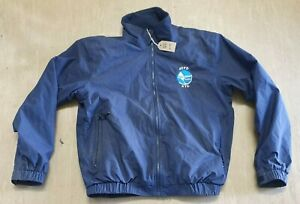 USED Gill Crew Jacket Navy Blue Fleeced Foul Weather Size Small UK #1