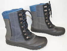 The North Face Boots Heat Seeker Insulation Black/Gray/Blue Zip/Lace Women's 8.5