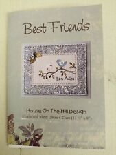 Best Friends Patchwork Pattern Wall hanging / Cushion. House on the Hill
