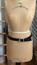 "GUESS Women's REVERSIBLE Leather Belt Brown/Black 30-34"" Silver Tone Buckle 32"""
