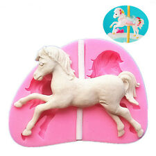 Cute Horse Design Silicone Fondant Mold Cake Decor Chocolate Gum Baking Mould