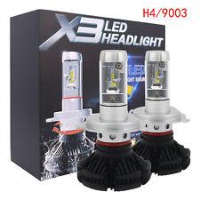 1x H4/9003/HB2 X3 Series 50W High Power LED Headlight 6000LM Beam Bulb Fog Light