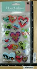 Jolee's FUN HEARTS Boutique Stickers 3 PUFFY LOVE SWEET HOPE MORE VALENTINE'S