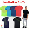 Uneek Mens Breathable T-Shirt Wicking Cool Running Gym Top Sports Performance T