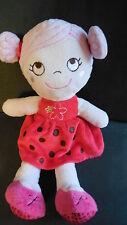 doudou peluche poupée fille coccinelle rose rouge à pois INFLUX CORA (2 dispo)